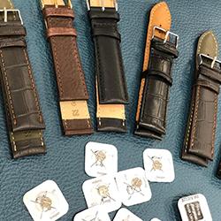Uhrarmbänder und Batterien